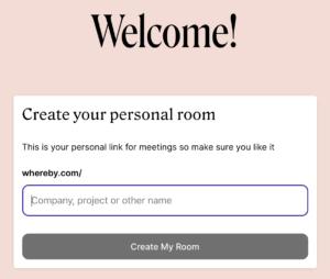 Steg 3 - ange namnet på mötesrummet.