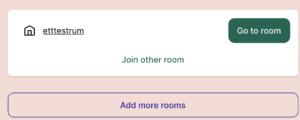 """Steg 4 - tryck på """"Go to room""""."""