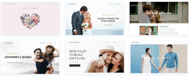 Webnode - det bästa alternativet för en bröllopshemsida med eget domännamn.