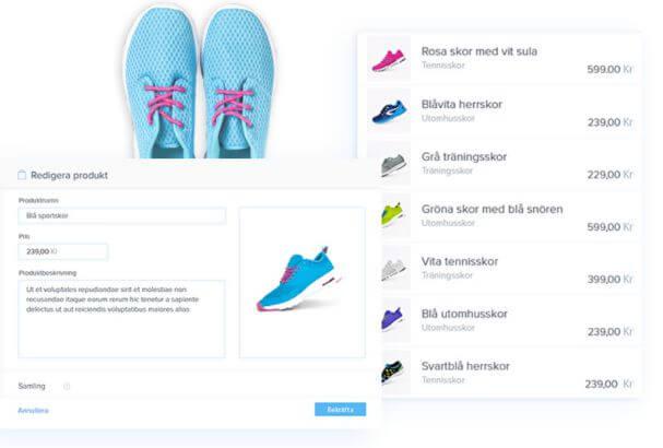 I Webnode kan du även lägga till din egen webshop.