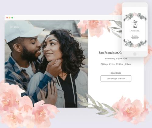 Joy - en riktigt bra dedikerad lösning för dig som vill ha en bröllopshemsida.
