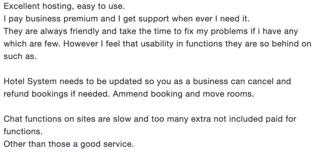 Wix recension från Trustpilot - nummer 2.