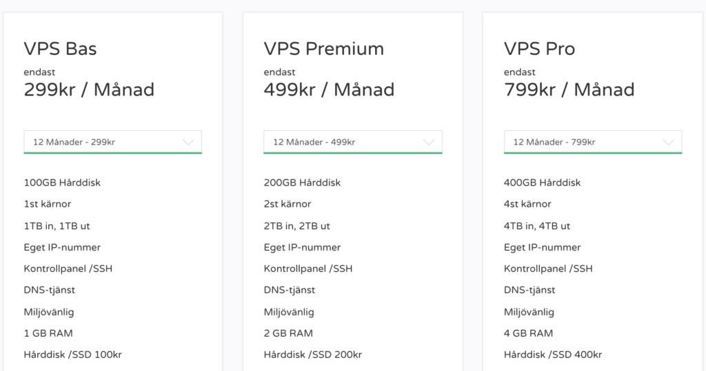 FS Data VPS, från 299 kr per månad.