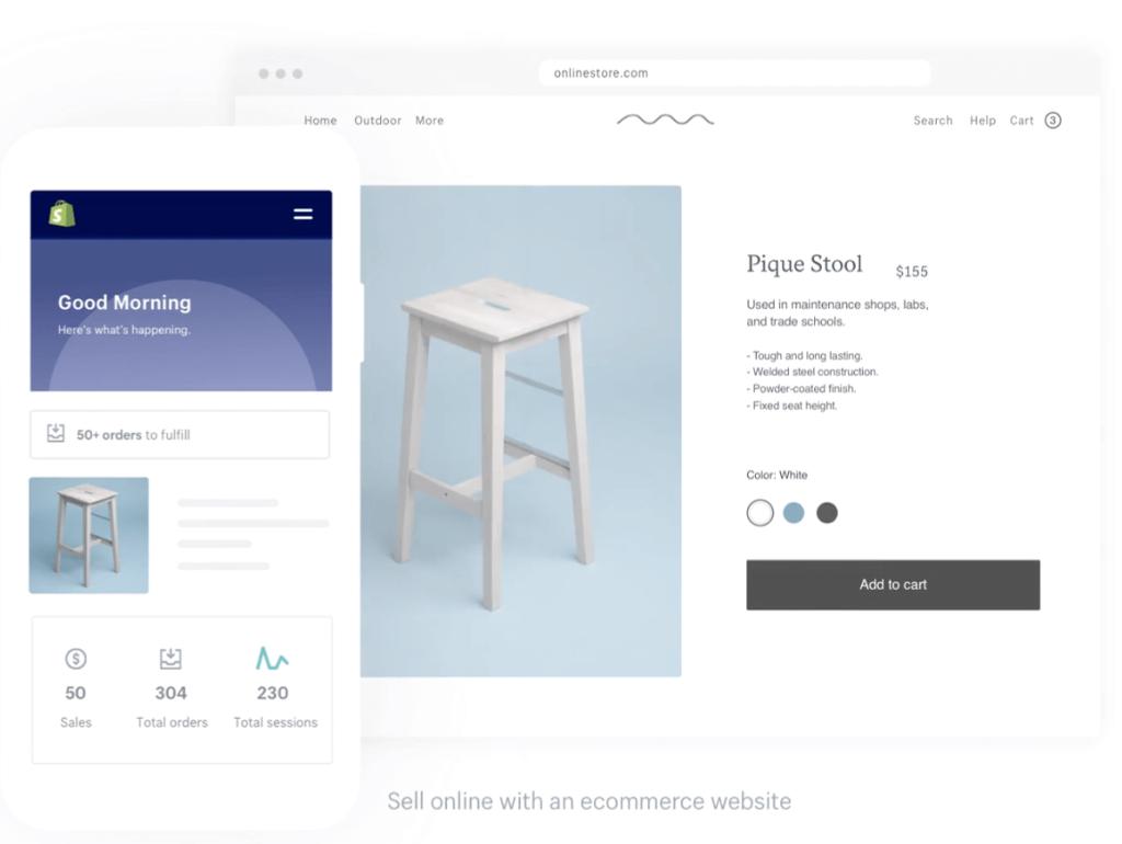 Shopify är lätt att komma igång med.