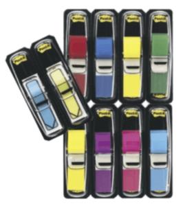 Index Post-it, 8 förpackningar index + 2 förpackningar pilar