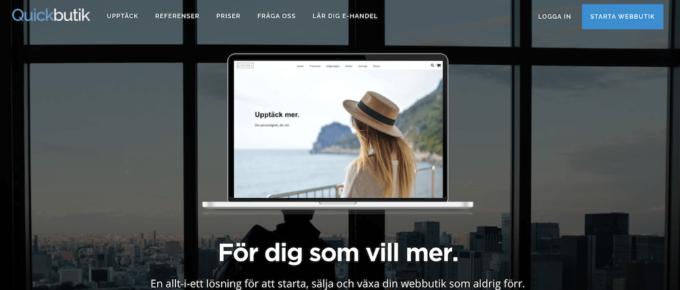 Quickbutik - en bra plattform för dig som vill starta webshop.