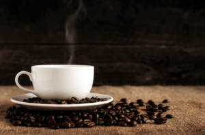 Rykande hett kaffe. Aldrig fel!