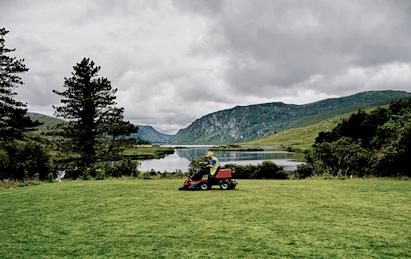 Det finns många modeller av gräsklippare - bensingräsklippare, med flera...